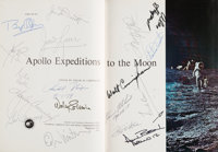 Apollo Expeditions to the Moon Book Signed by Richard Nixon and Eighteen Apollo Astronauts, including N