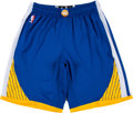 Basketball Collectibles:Uniforms, 2015 Stephen Curry Game Worn Golden State Warriors Shorts.. ...