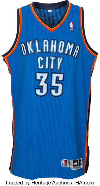 new products 0edd1 33d31 2011-12 Kevin Durant Game Worn Oklahoma City Thunder Jersey ...