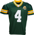 Football Collectibles:Uniforms, 2007 Brett Favre Game Worn & Signed Green Bay Packers Jersey - Used 10/7 vs. Bears (Photo Matched). . ...
