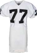 Football Collectibles:Uniforms, 1985 Lyle Alzado Game Worn Los Angeles Raiders Jersey....