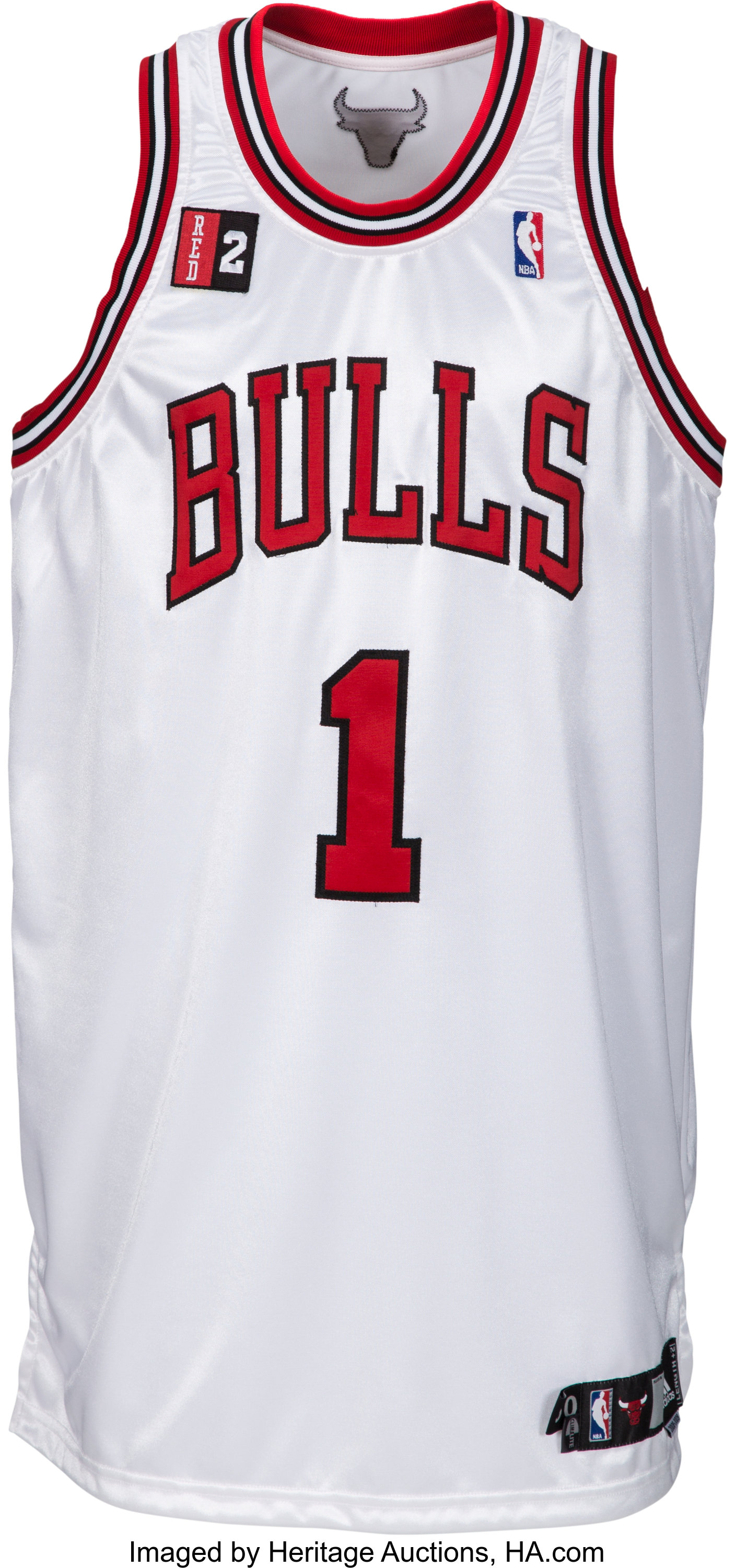 uk availability 8182a f961e 2008-09 Derrick Rose Game Worn, Signed Chicago Bulls Rookie ...