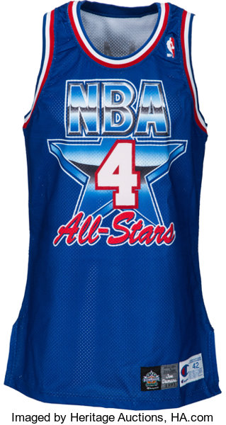 17bd28ef5b9 1993 Joe Dumars Game Worn NBA All-Star Game Jersey.... Basketball ...