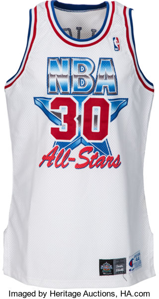 3920911e3fb Basketball Collectibles:Uniforms, 1993 Sean Elliott Game Worn All-Star Game  Jersey.