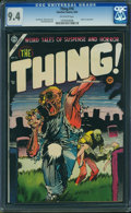 Golden Age (1938-1955):Horror, The Thing! #16 (Charlton, 1954) CGC NM 9.4 OFF-WHITE pages.