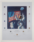 "Explorers:Space Exploration, Alan Bean Signed Limited Edition ""In the Beginning..."" Print, #168/1000, Signed by a Total of Twenty Apollo Astronauts. ..."