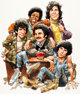 """Jack Davis TV Guide Cover Painting """"Welcome Back, Kotter"""" Original Art dated 10-22-77 (Triangle Publications..."""