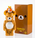 Fine Art - Sculpture, American:Contemporary (1950 to present), BE@RBRICK X Rilakkuma. 10th Anniversary 400%, 2014. Castresin with polyester . 13 x 5 x 4-1/2 inches (33 x 12.7 x 11.4 ...