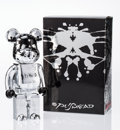 Fine Art - Sculpture, American:Contemporary (1950 to present), BE@RBRICK X Pushead. Silver Anniversary 400%, 2005. Paintedcast resin. 10-3/4 x 5-1/4 x 3-1/2 inches (27.3 x 13.3 x 8.9...