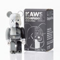 Fine Art - Sculpture, American:Contemporary (1950 to present), KAWS X BE@RBRICK. Dissected Companion 100% (Grey), 2008.Painted cast vinyl. 3 x 1-1/4 x 1 inches (7.6 x 3.2 x 2.5 cm). ...