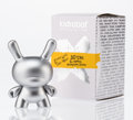 Collectible, kidrobot. 10th Anniversary Dunny (Silver), 2015. Painted cast vinyl. 2-3/4 x 2 x 1-1/4 inches (7.0 x 5.1 x 3.2 cm). Stam...