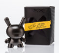 Fine Art - Painting, Russian:Contemporary (1950 to present), kidrobot. 10th Anniversary Dunny (Black), 2015. Painted castvinyl. 2-3/4 x 2 x 1-1/4 inches (7.0 x 5.1 x 3.2 cm). Stamp...