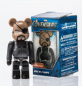 Fine Art - Sculpture, American:Contemporary (1950 to present), BE@RBRICK X Marvel. Nick Fury 100%, from TheAvengers, 2012. Painted cast resin. 2-3/4 x 1-1/2 x 0-1/2inches (7.0 x...
