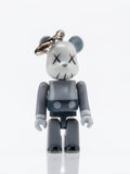 Fine Art - Sculpture, American:Contemporary (1950 to present), KAWS X BE@RBRICK. Companion 70% (Grey), keychain, 2011.Painted cast resin. 2 x 1-1/2 x 1 inches (5.1 x 3.8 x 2.5 cm). S...