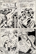 Original Comic Art:Panel Pages, Jack Kirby and Vince Colletta New Gods #5 Story Page 3Fastbak Original Art (DC, 1971)....