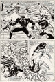 John Buscema and George Tuska Avengers #53 Story Page 14 Black Panther and X-Men Original Art (Marvel, 1968)