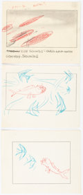 Animation Art:Production Drawing, Bill Tytla The Incredible Mr. Limpet Storyboards OriginalArt Group of 3 (Warner Brothers, 1964).... (Total: 3 Original Art)