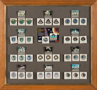 Apollo Astronauts: A Singular Collection of Individually Signed Apollo Commemorative Matchbooks Displayed in a Frame by...