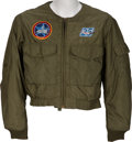 "Explorers:Space Exploration, Robert F. Overmyer's Owned and Worn Flight Jacket with Rare ""Mach 25"" Patch Originally from His Personal Collection, with Sign..."