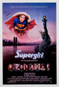 Memorabilia:Miscellaneous, Supergirl One Sheet Movie Poster Signed by Helen Slater (DC/Tri-Star, 1984)....