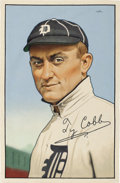 Baseball Collectibles:Others, 2017 Ty Cobb Variation on 1952 Bowman Original Artwork by Arthur Miller. ...