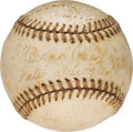 Autographs:Baseballs, 1943 Beans Reardon Signed World Series Game Five Used Baseball from The Beans Reardon Collection.. ...