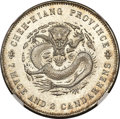 China:Chekiang Province, China: Chekiang. Kuang-hsü Dragon Dollar ND (1898-99) MS66 NGC,...