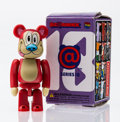 Collectible, BE@RBRICK. Series 18- Horror 100%, 2009. Painted cast resin. 2-3/4 x 1-1/4 x 0-1/2 inches (7.0 x 3.2 x 1.3 cm). Stamped ...