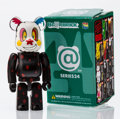 Fine Art - Sculpture, American:Contemporary (1950 to present), BE@RBRICK. Series 24- Horror 100%, 2012. Painted cast resin. 2-3/4 x 1-1/4 x 0-1/2 inches (7.0 x 3.2 x 1.3 cm). Stamped ...