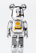 Fine Art - Sculpture, American:Contemporary (1950 to present), BE@RBRICK X mastermind Japan. Silver 100%, 2013. Chrome castresin. 2-3/4 x 1-1/2 x 0-1/2 inches (7 x 3.8 x 1.3 cm). Sta...