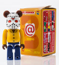 Collectible, BE@RBRICK. Series 3- Horror 100%, 2002. Painted cast resin. 2-3/4 x 1-1/4 x 0-1/2 inches (7.0 x 3.2 x 1.3 cm). Stamped o...