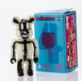 Collectible, BE@RBRICK. Series 4- Horror 100%, 2002. Painted cast resin. 2-3/4 x 1-1/4 x 0-1/2 inches (7 x 3.2 x 1.3 cm). Stamped on ...