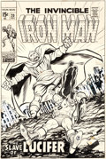 Original Comic Art:Covers, George Tuska Iron Man #20 Cover Original Art (Marvel, 1969)....