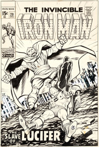 George Tuska Iron Man #20 Cover Original Art (Marvel, 1969)