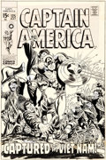 Original Comic Art:Covers, Marie Severin and Frank Giacoia Captain America #125 Unused Cover Original Art (Marvel, 1970)....