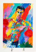 Boxing Collectibles:Autographs, 2001 Muhammad Ali Serigraph by LeRoy Neiman Signed by Each. ...