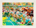 Football Collectibles:Others, 1982 Leroy Neiman Signed Superdome Super Bowl Serigraph. ...