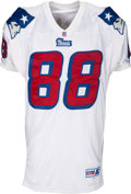 Football Collectibles:Uniforms, 1997 Terry Glenn Game Worn New England Patriots Jersey - With Team Repairs!...