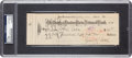 Baseball Collectibles:Others, 1932 Ty Cobb Dual-Signed Check, Endorsed by Wife. . ...