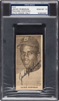 Baseball Collectibles:Others, 1950's Jackie Robinson Signed Newspaper Photograph, PSA/DNA Gem Mint 10. . ...