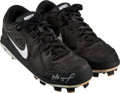 Baseball Collectibles:Others, Circa 2013 Jose Altuve Game Worn & Signed Cleats. . ...