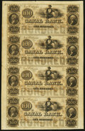 Obsoletes By State:Louisiana, New Orleans, LA- Canal Bank $100-$100-$100-$100 18__ Uncut Sheet. ...