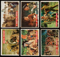 Non-Sport Cards:Lots, 1956 Topps Davy Crockett Orange Back Complete Set (80). ...