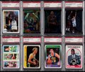 Basketball Cards:Lots, 1980-97 Basketball Stars & HoFers PSA Graded Collection (8)....