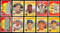 Baseball Cards:Lots, 1959 Topps Baseball Collection (174) With 17 High Number Cards....