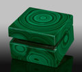 Lapidary Art:Boxes, Malachite Box. Stone Source: Katanga Copper Crescent.Katanga (Shaba). Democratic Republic of Congo(Zaïre). 2...