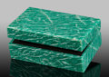 Lapidary Art:Boxes, Amazonite Box. Stone Source: Southern Urals. UralsRegion. Russia. 3.25 x 2.12 x 1.25 inches (8.25 x5.39 x 3....