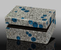 "Lapidary Art:Boxes, ""K2 Granite"" Box. Stone Source: Pakistan. 3.25 x 2.37 x1.50 inches (8.25 x 6.01 x 3.81 cm). ..."