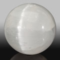 Lapidary Art:Eggs and Spheres, Selenite Sphere. Stone Source: Morocco. 5.00 inches(12.70 cm) in diameter. ...