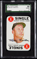 Baseball Cards:Singles (1960-1969), 1968 Topps Game Mickey Mantle #2 SGC 88 NM/MT 8....